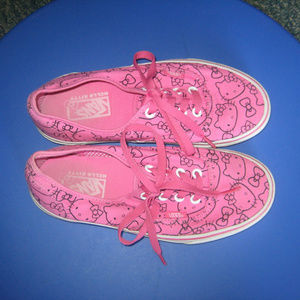 HELLO KITTY VANS women's size 6 - Pink Lace Up